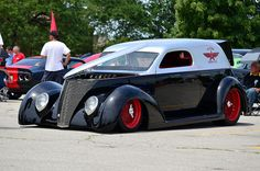 """""""Flying A Service"""" sedan delivery hot rod"""