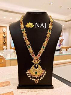 Enjoy this BIG SALE...Only @ NAJ NO WASTAGE* - NO MAKING - NO STONE COST Call or WhatsApp @ 9032041323 or email to mynaj@najindia.com... Available Only @ Naj Jewellery, Nellore.#TANAUSA, #TeluguUSA Gold Jewelry, Gold Necklace, Jewellery, Necklace Designs, Indian Jewelry, Jewelry Design, Jewels, Stone, Mini