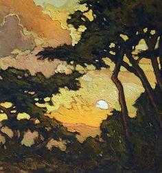 Watercolor Landscape, Abstract Landscape, Landscape Paintings, Landscape Quilts, Art Graphique, Paintings I Love, Tree Art, Art And Architecture, Art Drawings