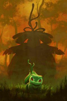 pixalry: Pokemon Starters - Created by Devin Elle Kurtz Pokemon Comics, Pokemon Fan Art, Cute Pokemon, Pokemon Go, Pikachu, Pokemon Bulbasaur, Pokemon Starters, Dragon, Pokemon Pictures
