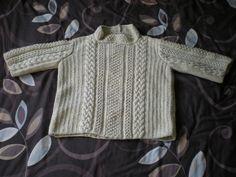 Ravelry: Funnel Neck Aran Sweater pattern by Pat Menchini