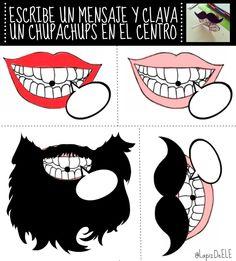 Plantilla para chupachups con mensaje. Más sobre la actividad aquí: http://lapizdeele.blogspot.com.es/2015/04/7-ideas-para-decir-adios.html