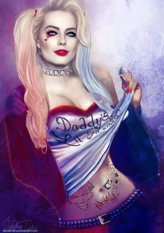Fan Art of Harley Qunn Suicide Squad for fans of Harley Quinn. Margot Robbie Harley, Harley Quinn Et Le Joker, Harley Quinn Cosplay, Dc Comics, Comics Girls, Fan Art, Harey Quinn, Art Kawaii, Fantasy Anime