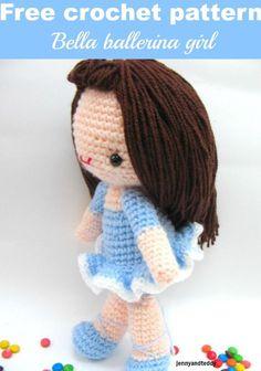 Bella girl free amigurumi crochet pattern Cute little girl doll !