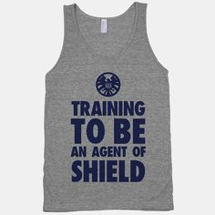 Training To Be An Agent Of Shield - American Apparel Athletic Grey Tank