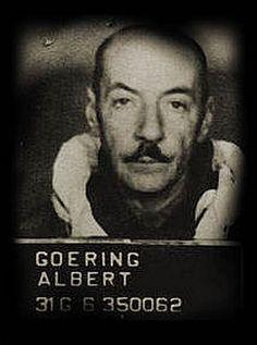 Inhaftiert: Nach dem Zweiten Weltkrieg wurde Albert Göring zunächst monatelang von den Amerikanern festgehalten und verhört und dann wegen möglicher Kriegsverbrechen in Tschechien angeklagt. Weil viele seiner ehemaligen Kollegen bei Skoda und andere, denen er geholfen hatte, vor Gericht zu seinen Gunsten aussagten, wurde Albert Göring im März 1947 freigesprochen. Er kehrte daraufhin nach Deutschland zurück, 19 Jahre später starb er verbittert und verarmt in einem Münchner Vorort.