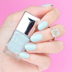 Baby blue || Dior Bleuette: http://sonailicious.com/dior-spring-2016-nail-polish-review-swatches/