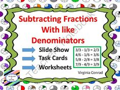 Subtracting Fractions With Like Denominators from Back to Basic Skills on TeachersNotebook.com -  (30 pages)  - Fun and easy way to teach and review subtracting fractions with like denominators.