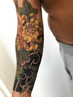 Flor Oriental Tattoo, Tattos, Tattoos