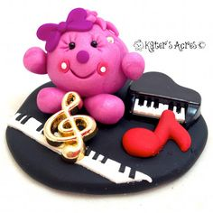 Musical Piano Lolly Figurine Polymer Clay Miniature Sculpture by KatersAcres on Etsy
