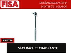 RACHET CUADRANTE 5449. Diseño robusto con 24 dientes- FERRETERIA INDUSTRIAL -FISA S.A.S Carrera 25 # 17 - 64 Teléfono: 201 05 55 www.fisa.com.co/ Twitter:@FISA_Colombia Facebook: Ferreteria Industrial FISA Colombia