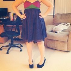 <Tara Jarmon> Colorblock Dress Super cute and flattering dress! Please ask questions before purchase. Thank you  Tara Jarmon Dresses