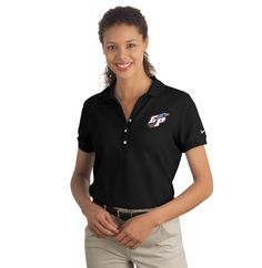 Nike Ladies Pique Player Polo  About This Product This Nike Polo shirt will keep you exquisitely comfortable even on those long twelve hour days! It is one of our finest polos, exceptionally soft and durable. Everyone should have one of these as a part of their wardrobe! Make yours unique by customizing it with your logo and make a bold statement.    Features:  Y-placket collar adds a sporty touch.   Comfortable 6 oz. 100% cotton pique knit.