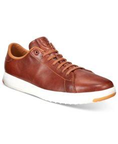 Cole Haan Men's Grand Pro Tennis Sneakers - Tan/Beige 11.5