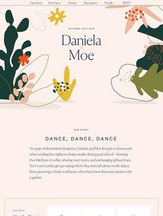 Daniela and Moe landing page design inspiration - Lapa Ninja - The Best 62 Culture Landing Page Design Inspiration - Lapa Ninja. Web Design Mobile, Site Web Design, Website Design Layout, Web Design Trends, Web Layout, Blog Design, App Design, Layout Design, Branding Design