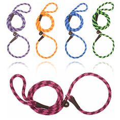 Mendota Braided Slip-Lead: Soft, simple and easy to use, this two in one dog leash and collar combo is very practical.