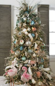 Deck The Shore Christmas Tree. By RAZ Imports. Truly inspiring! When the elves saw this, we knew a flamingo tree would be in the works for 2017.