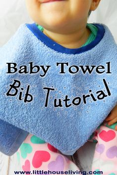 Towel Bibs are so convenient and they can be quick and simple to make as many as you need! You will love this Towel Baby Bib Pattern.
