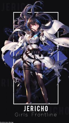 - Character Name : Jericho - Anime : Girls Frontline - Render : - all resource recpect to owner Jericho Anime Girls, Cool Anime Girl, Anime Art Girl, Manga Girl, Cool Girl, Manga Anime, Manga Characters, Female Characters, Anime Black Hair