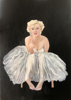 I painted this picture because of her beautiful tulle skirt and because Marilyn Monroe has been a idol of mine since I first watched Some Like it Hot when I was younger.