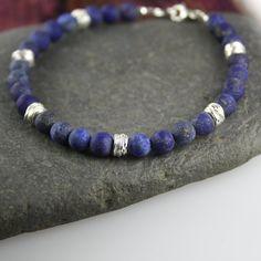 Lapis lazuli and silver bracelet £35.00