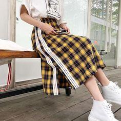 efd06507c2 Korean version of Plaid skirt KF50106. unzzy