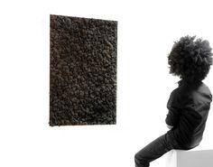 Tableau de lichen stabilisé Noir KandiBlack - by meamea