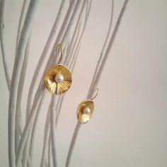 Golden plated, silver925  with fresh water pearl cluster earring. by polasoeljewelry on Etsy