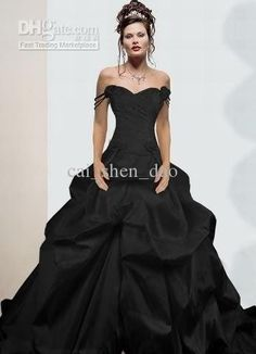 Wholesale Sexy A Line Spaghetti strap Floor length Fold Black Wedding dress Bridal gown Evening Dresses D-360, Free shipping, $147.84-165.76/Piece | DHgate