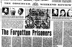 The British laywer Peter Benenson starts a campaign for people who are being prosecuted for their opinions or believes by writing the article 'The Forgotten Prisoners'. Amnesty International was born. © The Observer Newspaper