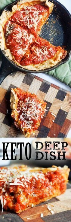 Low Carb Pizza - This single serving deep dish pizza will transport you straight to Chicago!