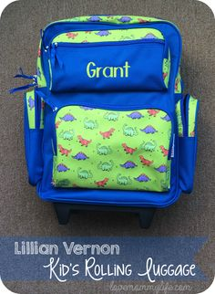 Lillian Vernon - Kid's Rolling Luggage { Review } - Life as a Mommy