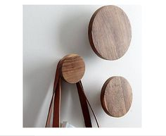 Natural Wall Hooks- not sure how they attach to the wall… but they look nice