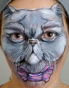 Persian cat. Face paint by Tanya Maslova.