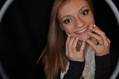 Emilie with her piano nail art