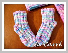 Tita Carré Needle and Tricot: Little waistcoat and baby sock Spring in … - Everything About Knitting Baby Slippers, Baby Socks, Crochet, Trunks, Knitting, Spring, Fashion, Baby Shoes, Baby Coming Home Outfit