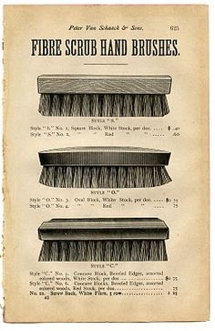 Vintage Clip Art - Antique Scrub Brush - The Graphics Fairy