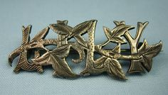 Sweet Victorian Lily name pin. With lilies!