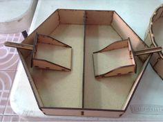 Exhibidor para mesa de dulces hexagonal con palitas