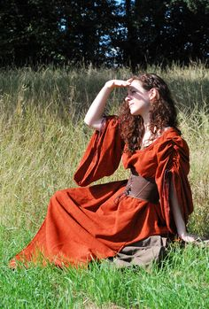 Sadb medieval gown by ~Lorliaswood on deviantART- I'd wear this dress if it meant i could sit in a field all day