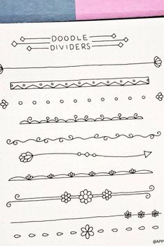 Collection of super cute and easy bullet journal divider ideas Bullet Journal Dividers, Bullet Journal Lettering Ideas, Bullet Journal Banner, Bullet Journal Notebook, Bullet Journal School, Bullet Journal Inspo, Bullet Journal Ideas Pages, Journal Fonts, Book Journal