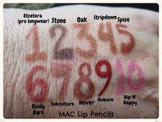 Baroque In Babylon: Swatches of 18 MAC Lip Pencils: From Kim Kardashian's Favorite to Mine