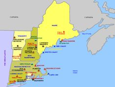 cool New England Map