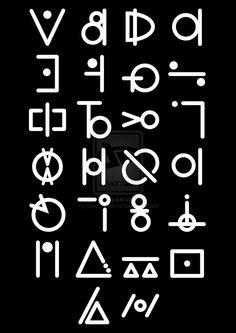 Alien Alphabet by CloudyCosmos on DeviantArt