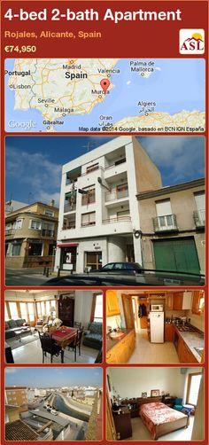 4-bed 2-bath Apartment in Rojales, Alicante, Spain ►€74,950 #PropertyForSaleInSpain