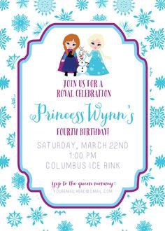 the 53 best frozen party invitations images on pinterest frozen
