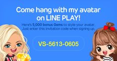 Download LINE PLAY and enter this invitation code for bonuses! VS-5613-0605 http://j.mp/letslineplay