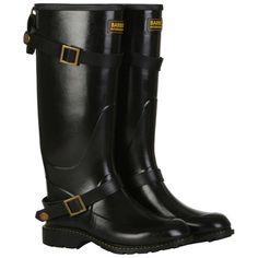 Barbour Women's Biker Wellington Boots - Black