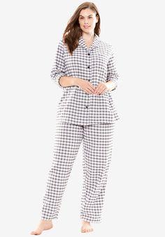 Printed Flannel PJ Set by Dreams   Co.®  164d6e5c6