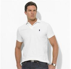 Mens Ralph Lauren Polo Mesh Shirt In White #polo shirts